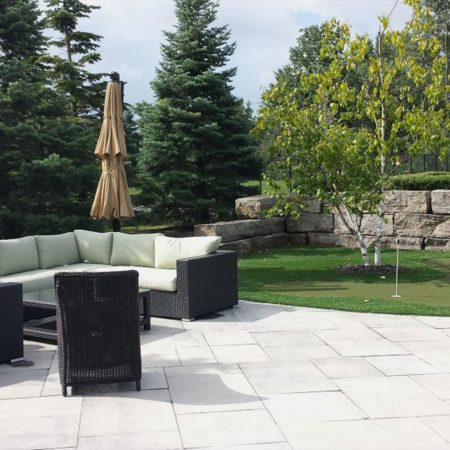 Backyard Landscaping Aurora Interlock