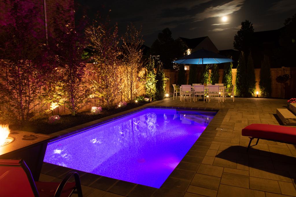 aurora pool lighting